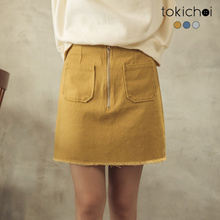 TOKICHOI - Multi-color Double Pockets Denim Skirt-190007-Winter