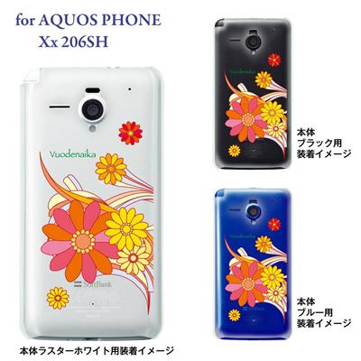 【AQUOS PHONE Xx 206SH】【206sh】【Soft Bank】【カバー】【ケース】【スマホケース】【クリアケース】【Vuodenaika】【フラワー】 21-206sh-ne0006caの画像