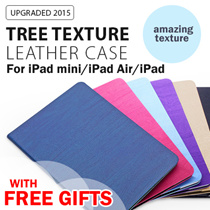 [100% GOOD QUALITY!]  ★Tree Texture Leather Cases for :: iPad Pro 9.7 :: iPad Mini1/2/3 :: iPad Mini4 :: iPad Air1/2 :: iPad 2/3/4 :: with smart cover :: amazing texture :: lots of color choices! ★