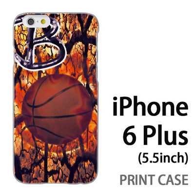 iPhone6 Plus (5.5インチ) 用『No1 B バスケットボール』特殊印刷ケース【 iphone6 plus iphone アイフォン アイフォン6 プラス au docomo softbank Apple ケース プリント カバー スマホケース スマホカバー 】の画像