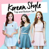 【BUY 2 FREE SHIPPING】Korean Fashion Top And Bottom Set 20  Design High Quality Limited Offer