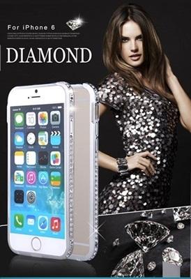 iPhone6 /iPhone6 Plus アイフォン6ケース /New iPhone/ハードケース【iPhone6 /iPhone6 Plusケース】メタル+ラインストーン metal diamond Bumper( メタルボンドダイヤモンドバンパー) レビューを書いてメール便送料無料の画像