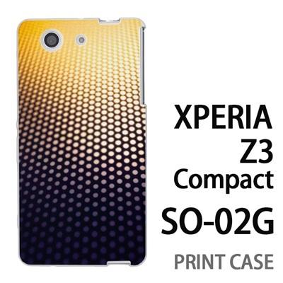 XPERIA Z3 Compact SO-02G 用『No4 ドットグラデーション』特殊印刷ケース【 xperia z3 compact so-02g so02g SO02G xperiaz3 エクスペリア エクスペリアz3 コンパクト docomo ケース プリント カバー スマホケース スマホカバー】の画像