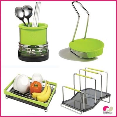 【日用品】 spider loc kitchenキッチン4setC(green)の画像