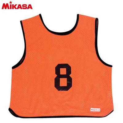MIKASA(ミカサ) ゲームジャケット ソフトバレー用 レギュラーサイズ (1~15番) GJSV-O 【ビブス ゲームベスト 試合 練習用品】の画像