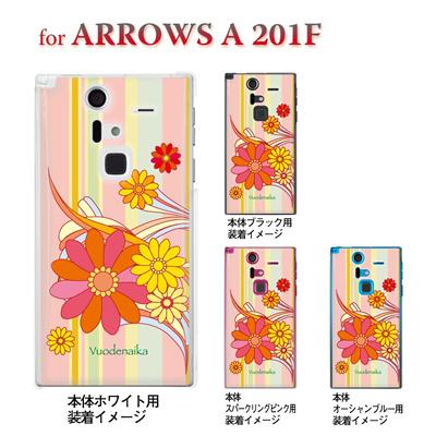 【ARROWS ケース】【201F】【Soft Bank】【カバー】【スマホケース】【クリアケース】【Vuodenaika】【フラワー】 21-201f-ne0006の画像
