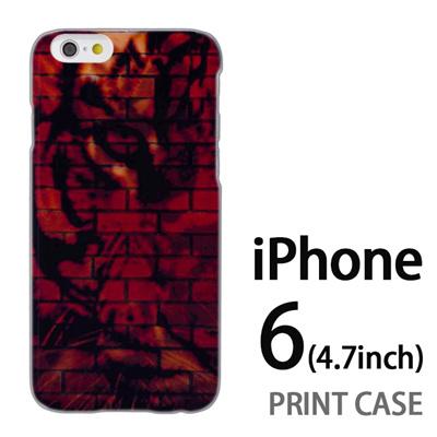 iPhone6 (4.7インチ) 用『No5 レンガ調寅』特殊印刷ケース【 iphone6 iphone アイフォン アイフォン6 au docomo softbank Apple ケース プリント カバー スマホケース スマホカバー 】の画像