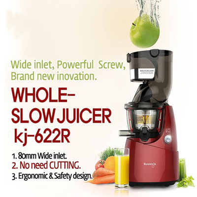 Nuc Slow Juicer Manual : Buy NUC KJ-622R Whole Slow Juicer 80mm Wide Inlet Extractor Fruit vegetable Powerful Screw ...
