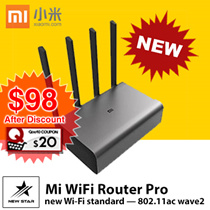 [2017 NEW !] Xiaomi Mi WiFi Router Pro Grey [Sealed Set] SG Seller!