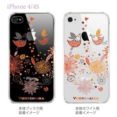 【Vuodenaika】【iPhone4/4Sケース】【カバー】【スマホケース】【クリアケース】【フラワー】 21-ip4-ne0005caの画像