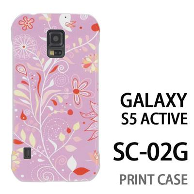 GALAXY S5 Active SC-02G 用『0624 紫の花』特殊印刷ケース【 galaxy s5 active SC-02G sc02g SC02G galaxys5 ギャラクシー ギャラクシーs5 アクティブ docomo ケース プリント カバー スマホケース スマホカバー】の画像