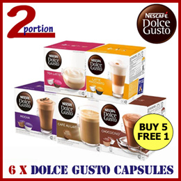 [USE COUPON] 6 Boxes of NESCAFÉ® Dolce Gusto® Capsules (Assorted)
