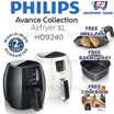 ★ FREE GRILL PAN + BAKING TRAY + COOKBOOK WORTH $112 - Philips HD9240 Avance Collection Airfryer XL with Rapid Air Technology ★ (2 Years World-Wide Warranty)