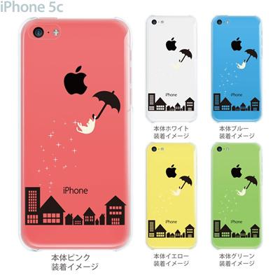 【iPhone5c】【iPhone5cケース】【iPhone5cカバー】【ケース】【カバー】【スマホケース】【クリアケース】【フラワー】【アンブレラねこ】 22-ip5c-ca0098の画像