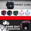 IN STOCK! 3 color Fidget Cube Children Desk Toy Adults Stress Relief cubes toys