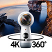 Samsung Gear 360 2017 Edition / 4K Recording / Camera / Live Broadcasting two CMOS 8.4MP fish-eye