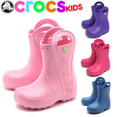 クロックス ハンドル イット レイン ブーツ キッズ CROCS RAIN BOOT KIDS くろっくす 子供 長靴の画像