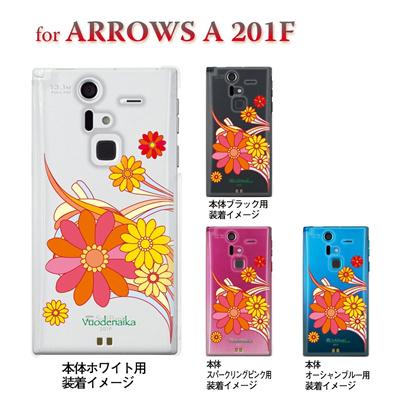 【ARROWS ケース】【201F】【Soft Bank】【カバー】【スマホケース】【クリアケース】【フラワー】【Vuodenaika】 21-201f-ne0006caの画像