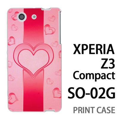 XPERIA Z3 Compact SO-02G 用『No4 ハートライン ピンク』特殊印刷ケース【 xperia z3 compact so-02g so02g SO02G xperiaz3 エクスペリア エクスペリアz3 コンパクト docomo ケース プリント カバー スマホケース スマホカバー】の画像