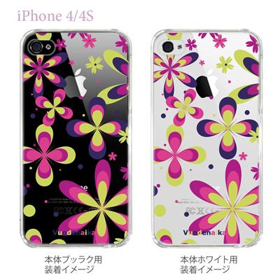 【Vuodenaika】【iPhone4/4Sケース】【カバー】【スマホケース】【クリアケース】【フラワー】 21-ip4-ne0020caの画像