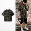 Kanye WEST mens fashion T- shirts ❤xxxibgdrgn❤ G-drong wear outer camouflage ❤迷彩柄の半袖シャツ❤男女兼備 Oversize STYLIST CREATIVE DIRECTOR--IAMSMALLFRY