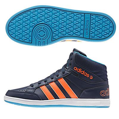 アディダス (adidas) ジュニア NEOHOOPS MID K(カレッジネイビー×ソーラーオレンジ×ソーラーブルー) F98532 [分類:キッズ・子供靴 スニーカー]の画像