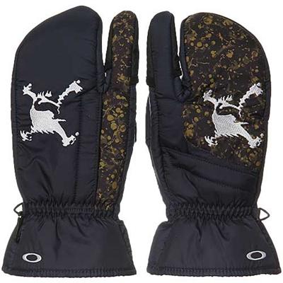 ◆即納◆オークリー(OAKLEY)スカル ミトン(SKULL MITTEN) 2.0 94246JP GRPHITE 【ゴルフ メンズ 防寒 手袋】の画像