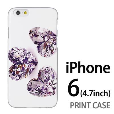 iPhone6 (4.7インチ) 用『0115 3つのガラスのハート』特殊印刷ケース【 iphone6 iphone アイフォン アイフォン6 au docomo softbank Apple ケース プリント カバー スマホケース スマホカバー 】の画像