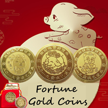 🐷 2019 Pig Year CNY Fortune Gold Coins Chinese New Year Perfect CNY Gift