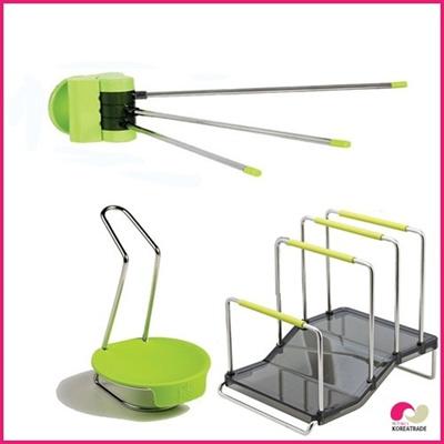 【日用品】 spider loc kitchenキッチン 3setC(green)の画像