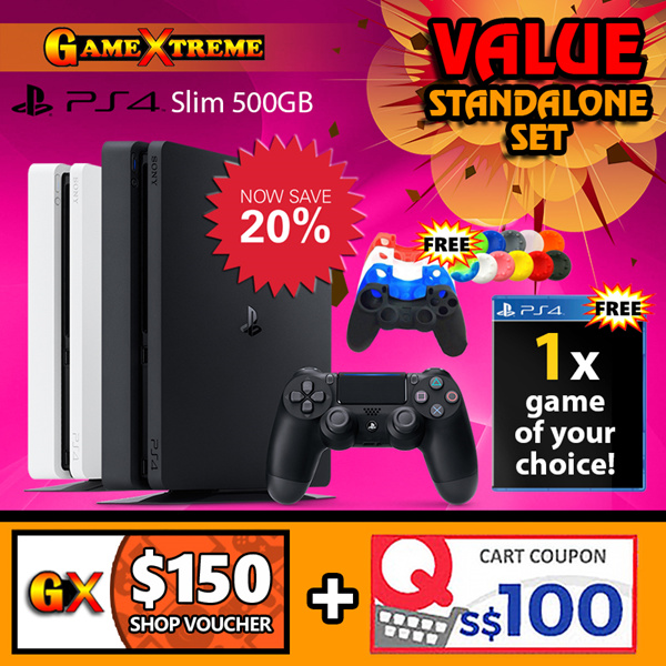 ?10/10 SPECIAL PRICE!!? PS4 Slim Standalone 500GB Deals for only S$601 instead of S$0