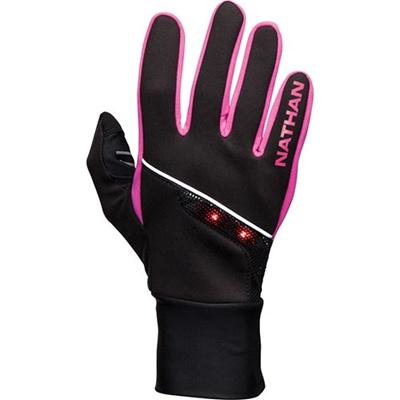 ネイサン(NATHAN) SpeedShift グローブ B61303000 BLACK/F.FUSCHIA S 【ランニング ジョギング ナイトラン アクセサリー 手袋】の画像