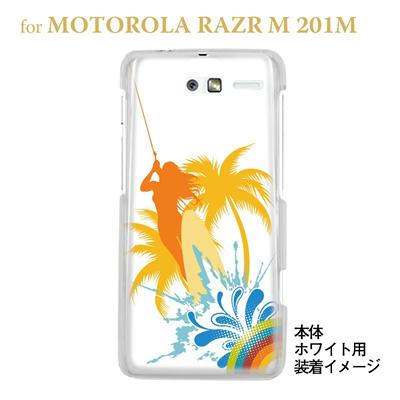【MOTOROLA RAZR ケース】【201M】【Soft Bank】【カバー】【スマホケース】【クリアケース】【夏のパラダイス】 08-201m-ca0070の画像