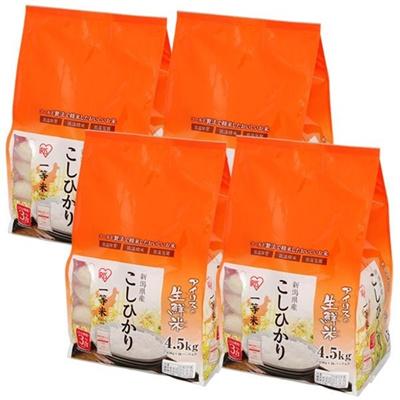 【送料無料】お米 新潟県産 コシヒカリ 18kg(4.5kg×4個入り) (一等米100%)の画像