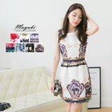 MAYUKI - Pattern Sleeveless Dress-5007425