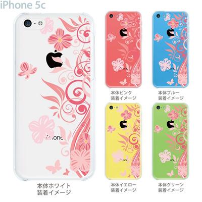 【iPhone5c】【iPhone5cケース】【iPhone5cカバー】【ケース】【カバー】【スマホケース】【クリアケース】【フラワー】【花と蝶】 22-ip5cp-ca0078の画像