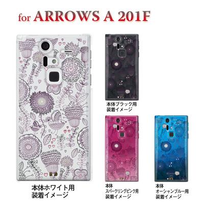 【ARROWS ケース】【201F】【Soft Bank】【カバー】【スマホケース】【クリアケース】【フラワー】【Vuodenaika】 21-201f-ne0014caの画像