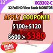 View Sonic XG3202-C Reall 144Hz / Low Input Lag / International Ver.
