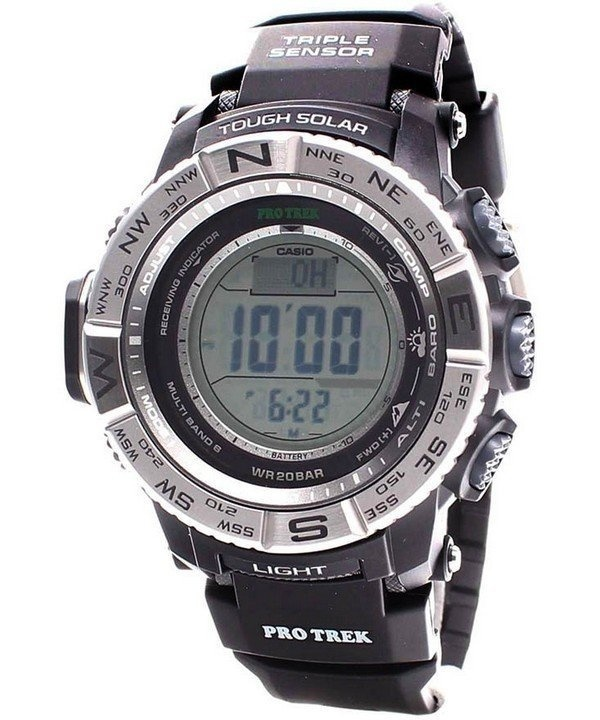 【クリックで詳細表示】【取得NG】Casio Protrek Digital Atomic Tough Solar Triple Sensor PRW-3500-1D Watch