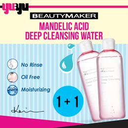 1+1Bundle [BEAUTYMAKER]✮Mandelic Acid Deep Cleansing Water✮女人我最大✮Eye Lip Face Makeup Remover✮OilFree
