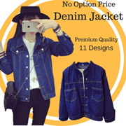 2 In ONE Shipping ~ Korea Fashion Denim Jacket in Multi Design/ Plus Size/ Good Quality