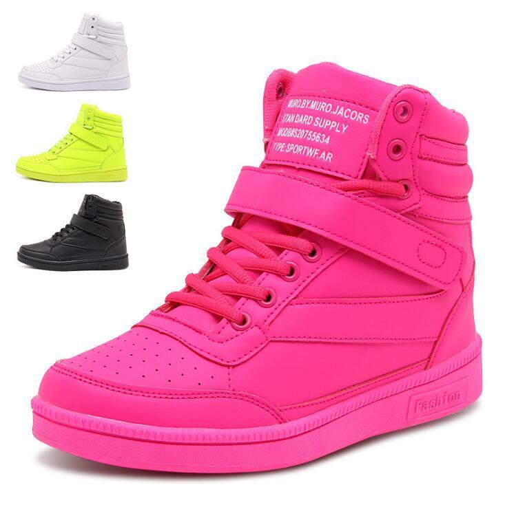 韓国ファッションスターEXO BIGBANG カップル ペアルック スニーカー  靴 シューズ ランニングシューズ キャンバス ハイカットスニーカー 白いスニーカー  厚底 スニーカー 登山靴