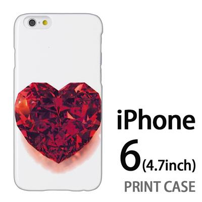 iPhone6 (4.7インチ) 用『0115 ガラスのハート 赤』特殊印刷ケース【 iphone6 iphone アイフォン アイフォン6 au docomo softbank Apple ケース プリント カバー スマホケース スマホカバー 】の画像