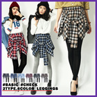 BASIC-CHECK LEGGINGS 2TYPE 6COLOR