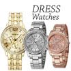 Geneva Chronograph Look Watch Metal Link Women Smart Casual Dress Watch
