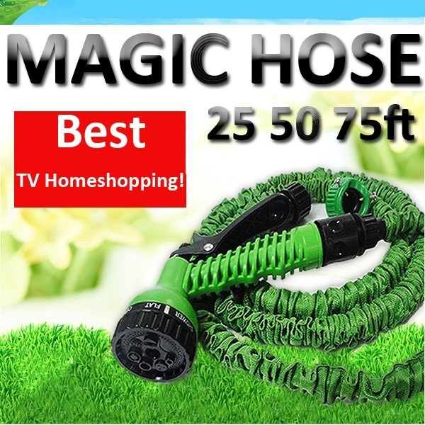 as seen on tv magic hose 25 50 75ft 7 function spray gun. Black Bedroom Furniture Sets. Home Design Ideas