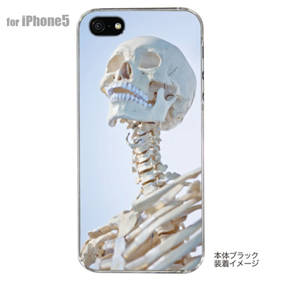 【iPhone5S】【iPhone5】【Clear Arts】【iPhone5ケース】【カバー】【スマホケース】【クリアケース】【ハード・クール】【SKULL】 42-ip5-pnsk012の画像