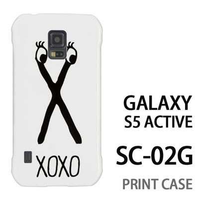 GALAXY S5 Active SC-02G 用『0626 「X」』特殊印刷ケース【 galaxy s5 active SC-02G sc02g SC02G galaxys5 ギャラクシー ギャラクシーs5 アクティブ docomo ケース プリント カバー スマホケース スマホカバー】の画像