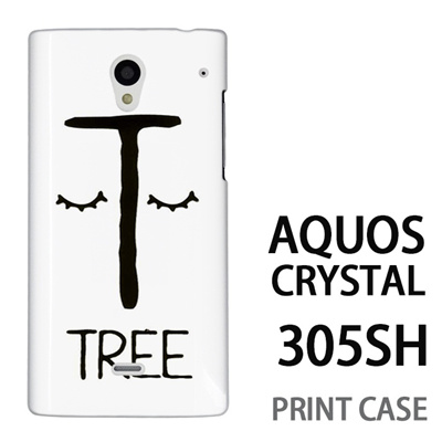 AQUOS CRYSTAL 305SH 用『0623 「T」』特殊印刷ケース【 aquos crystal 305sh アクオス クリスタル アクオスクリスタル softbank ケース プリント カバー スマホケース スマホカバー 】の画像