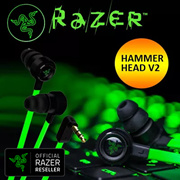 Razer Hammerhead V2 – Analog Gaming  Music In-Ear Headphones / 10MM Extra Large Dynamic Drive for St